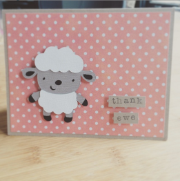Thank ewe card from Staci!