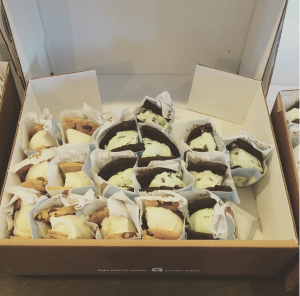 Creme ice cream sandwiches @ WeWork